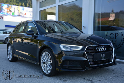 Audi A3 SB 2,0 TDI sport**S-LINE**LED**NAVI**SHZ** bei BM || Car Point Mayer in